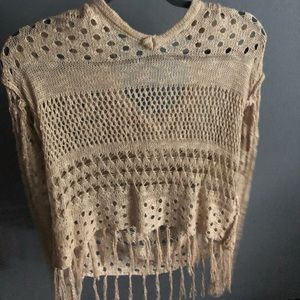 Sweaters - Tan cover up from Von Maur